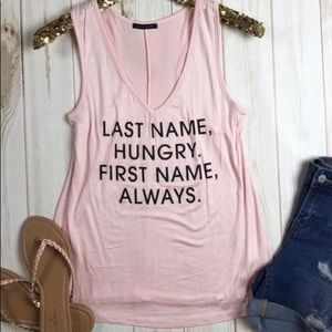 Hungry graphic tank 💜 NEW!!!
